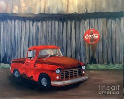 55 Chevy Poster by Peggy Miller