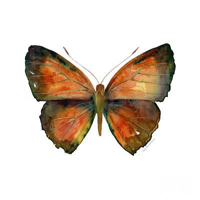 56 Copper Jewel Butterfly Poster by Amy Kirkpatrick