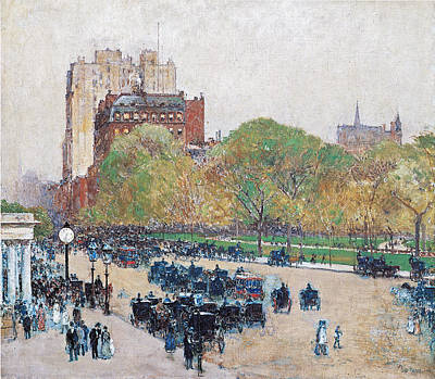Spring Morning In The Heart Of The City Poster by Childe Hassam