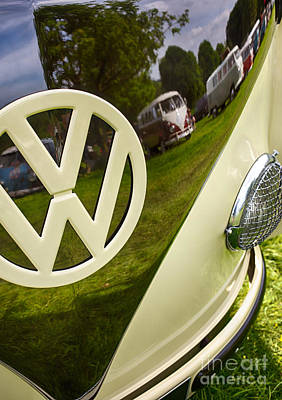 57 Vw Reflections Hdr Poster by Tim Gainey
