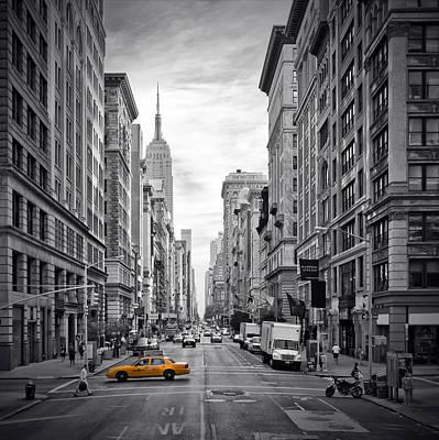 5th Avenue Yellow Cab Poster by Melanie Viola