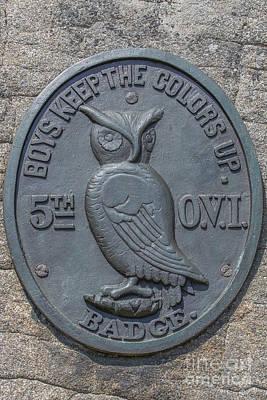 5th Ohio Owl Marker Gettysburg Poster by Randy Steele