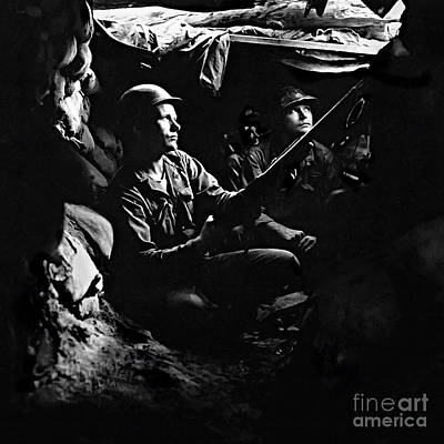 5th Rct Tunnels 40 Yds From Chinese Communists Poster by Bob and Nadine Johnston