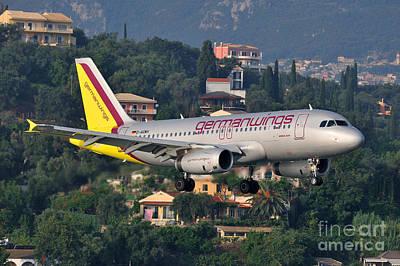 Approaching Corfu Airport Poster by George Atsametakis