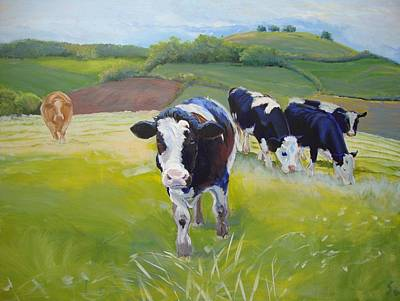 Cows Poster by Mike Jory