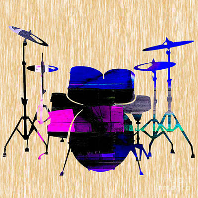 Drums Poster by Marvin Blaine