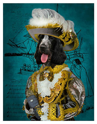 English Cocker Spaniel Art Canvas Print Poster by Sandra Sij