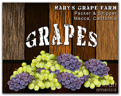 Grape Farm Poster by Marvin Blaine