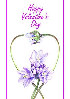 Happy Valentines Day Poster by Irina Sztukowski