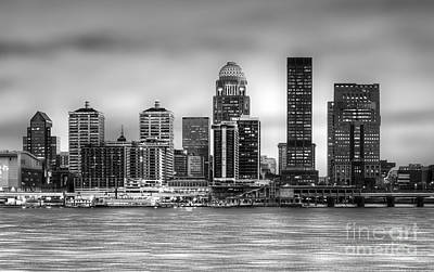 Louisville Kentucky Skyline Poster by Twenty Two North Photography