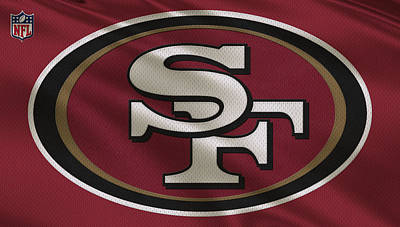 San Francisco 49ers Uniform Poster by Joe Hamilton