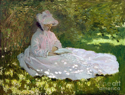 Springtime Poster by Claude Monet