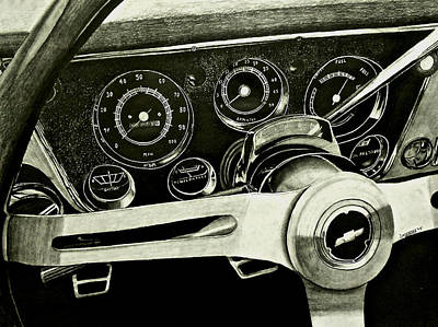 67-72 Chevy Truck Dash Poster by Brandon Undeberg