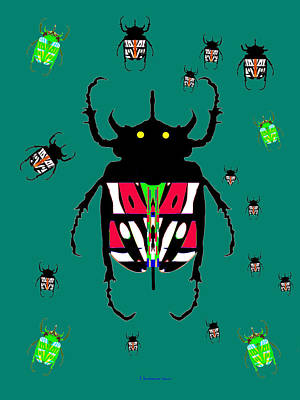 676 -  Fire Beetle Poster by Irmgard Schoendorf Welch