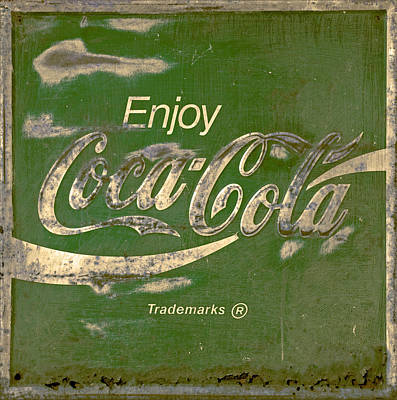 Coca Cola Sign Grungy Retro Style Poster by John Stephens