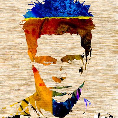 Brad Pitt Poster by Marvin Blaine