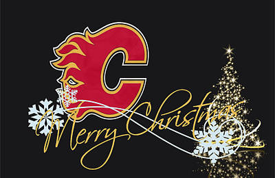 Calgary Flames Poster by Joe Hamilton