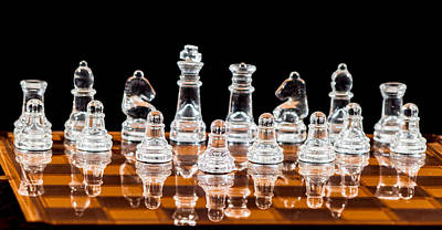Chess Game Set Poster by Keith Thorburn LRPS