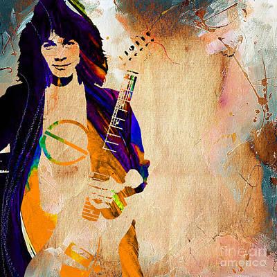 Eddie Van Halen Collection Poster by Marvin Blaine