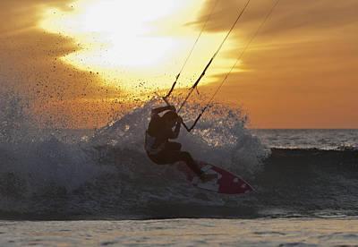 Kitesurfing Tarifa, Cadiz, Andalusia Poster by Ben Welsh