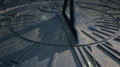 Sundial Lost In Time Poster by Allan Swart