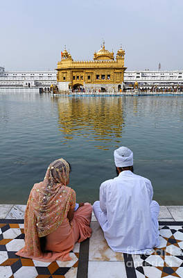 The Golden Temple At Amritsar India Poster by Robert Preston