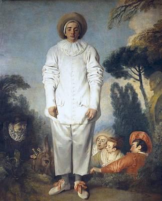Watteau, Jean-antoine 1684-1721 Poster by Everett