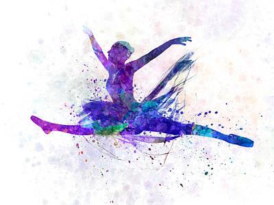 Woman Ballerina Ballet Dancer Dancing Poster by Pablo Romero