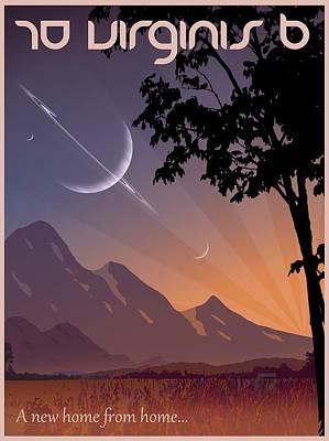 70 Virginis B Travel Poster Poster by Mark Garlick