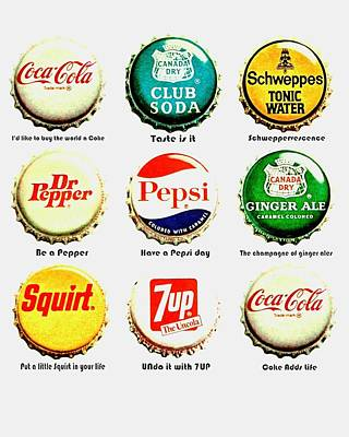 70s Soft Drink Slogans Poster by Benjamin Yeager