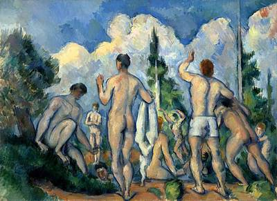 Bathers Poster by Paul Cezanne