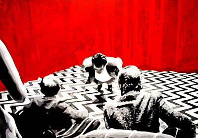 Black Lodge  Poster by Luis Ludzska