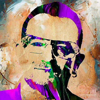 Bono U2 Poster by Marvin Blaine