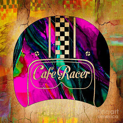 Cafe Racer Motorcycle Poster by Marvin Blaine