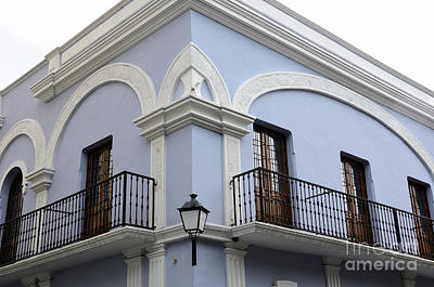 Colorful Old San Juan Poster by Birgit Tyrrell
