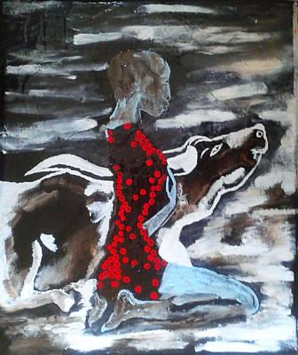 Dinka Bride - South Sudan Poster by Gloria Ssali