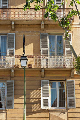 France, Corsica, Ajaccio, Building Poster by Walter Bibikow