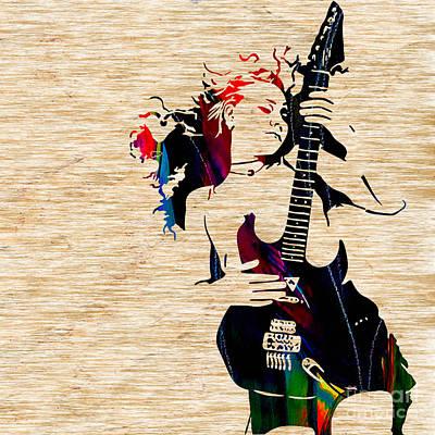 Guitar Goddess Poster by Marvin Blaine