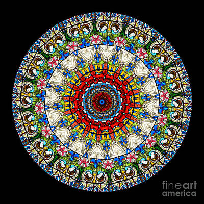 Kaleidoscope Stained Glass Window Series Poster by Amy Cicconi
