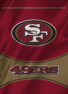 San Francisco 49ers Uniform Poster by Joe Hamilton