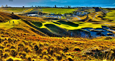 #9 At Chambers Bay Golf Course - Location Of The 2015 U.s. Open Tournament Poster by David Patterson