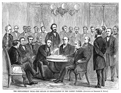 Johnson Impeachment, 1868 Poster by Granger