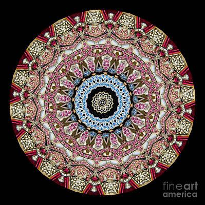 Kaleidoscope Colorful Jeweled Rhinestones Poster by Amy Cicconi