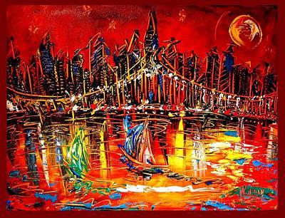 Manhattan Poster by Mark Kazav