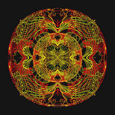 995 - Mandala In Earth Colours   Poster by Irmgard Schoendorf Welch