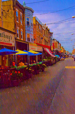 9th Street Italian Market Philadelphia Rendering Poster by Bill Cannon