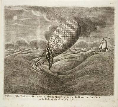 A Balloon In Danger At Sea Poster by British Library