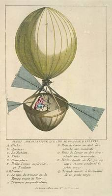 A Balloon With Oars Poster by British Library