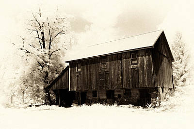 A Barn Of Old Poster by Paul W Faust -  Impressions of Light
