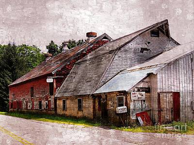 A Barn With Many Purposes Poster by Marcia Lee Jones